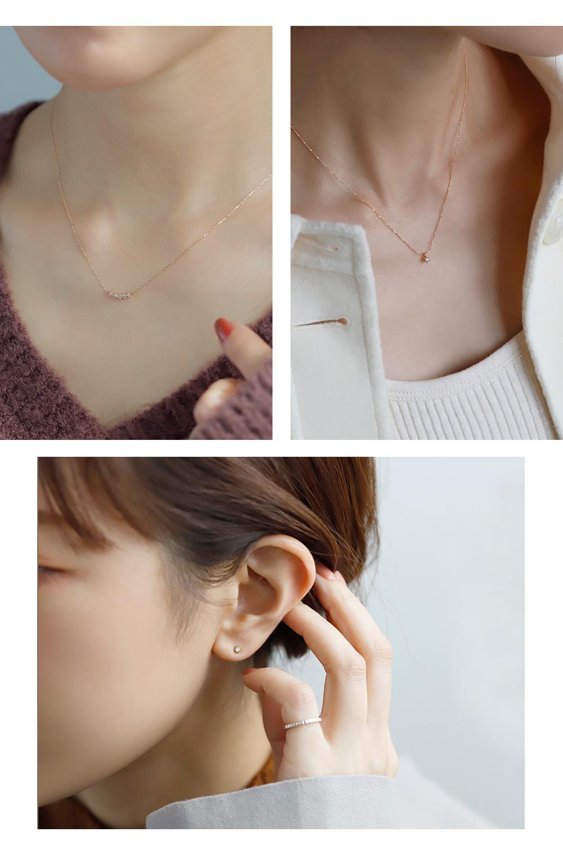 クリスマス限定K10ダイヤモンドネックレス・K18ピアス