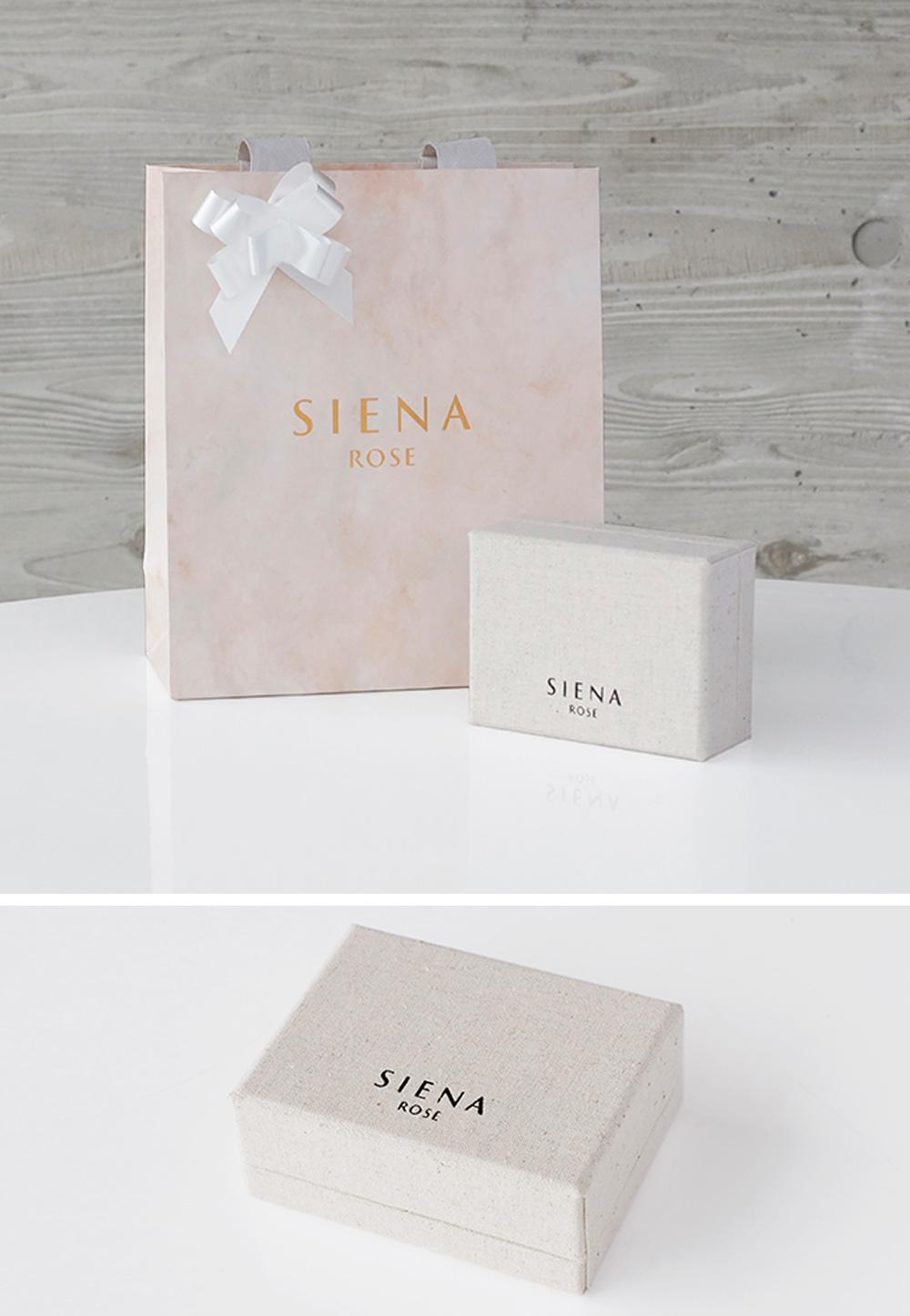SIENA ROSE白いリボンをつけたショッパー